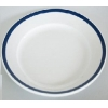 12 pcs set of dinner porcelain plate 26 cm blue line HoReCa